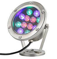 Светильник подводный для фонтана K-3301 LED 12W RGB 12V размер 160мм*195мм IP68, фото 4
