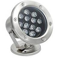 Светильник подводный для фонтана K-3301 LED 12W RGB 12V размер 160мм*195мм IP68, фото 5