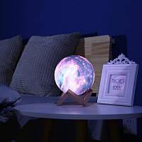 Ночник Луна Цветная Magic 3D Moon Light | Настольный светильник ночник луна на сенсорном управлении