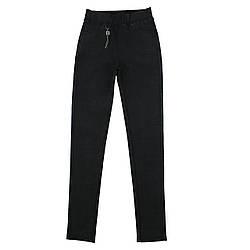 Лосіни жіночі стильні облягаючі чорні ТМ Метелик
