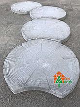 Тротуарная плиткка на дорожки СРЕЗ ДЕРЕВА 620х50 серая