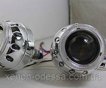 """Маска для ксеноновых линз G5 2.5"""" : Z265 BMW Mini Cooper c Ангельскими Глазками, фото 2"""