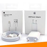 Зарядка для Айфона (Apple Charger MD813M/A + Apple Usb MD818ZM/A), фото 1