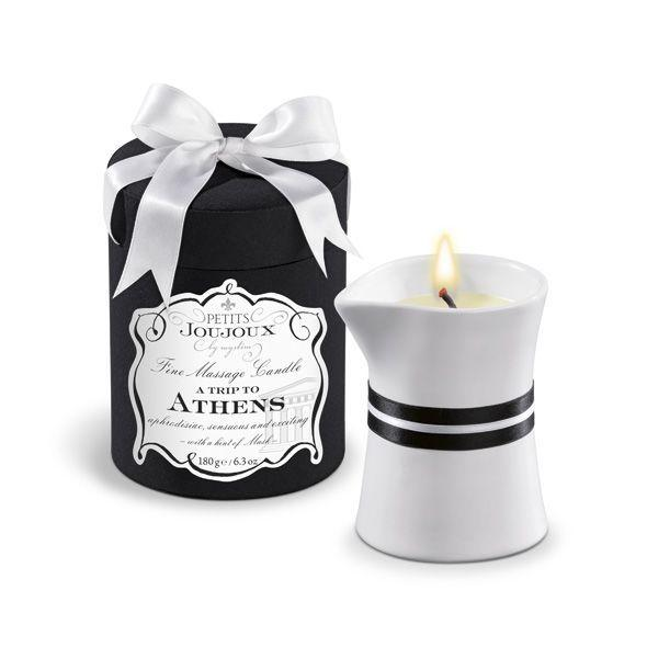 Масажна свічка Petits Joujoux - Athens - Musk and Patchouli (190 г) розкішна упаковка