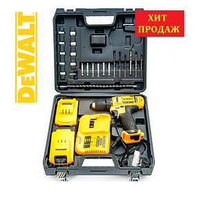 Акумуляторний шуруповерт DeWALT DCD771 (24V, 3AH) з набором біт і свердел