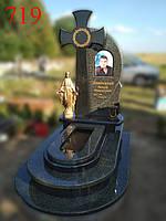 Элитный памятник из зеленого гранита и габбро, фото 1