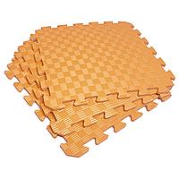 Татами 50х50х1см Оранжевый (коврик-пазл ласточкин хвост) IZOLON EVA SPORT, фото 1