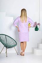 """Замшевое платье прямого кроя """"Belita"""" с кулоном (большие размеры), фото 2"""