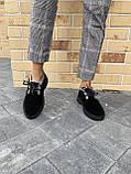 Жіночі замшеві черевики зимові чорні Polin 2036, фото 3
