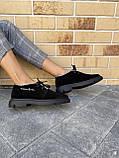 Женские ботинки замшевые зимние черные Polin 2036, фото 4
