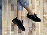 Жіночі замшеві черевики зимові чорні Polin 2036, фото 2