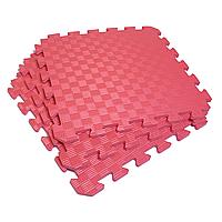 Татами 50х50х1см Красный (коврик-пазл ласточкин хвост) IZOLON EVA SPORT, фото 1