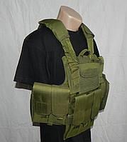 Тактический военный жилет-плитоноска.(Олива), фото 1