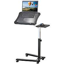 Эргономичный стол для ноутбука на колесиках с подставкой для мышки Tatkraft JOY 13407