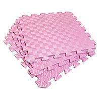 Татами 50х50х1см Розовый (коврик-пазл ласточкин хвост) IZOLON EVA SPORT, фото 1