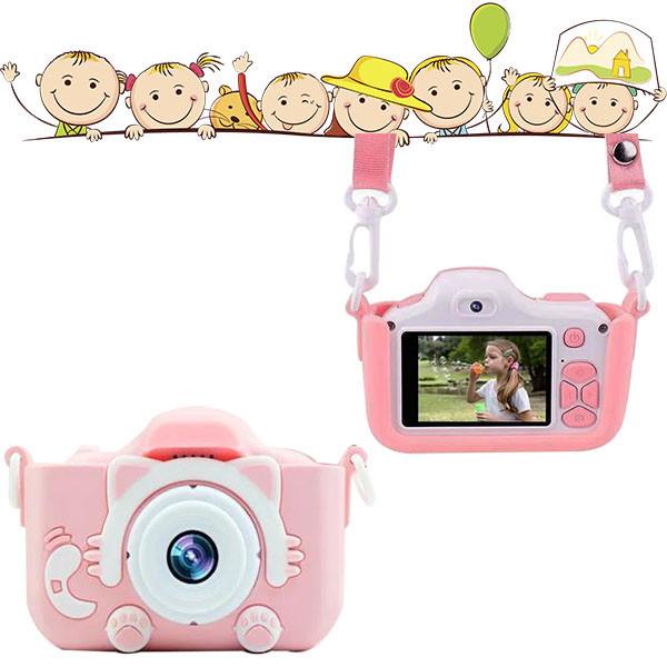 Детский фотоаппарат в чехле Smart Kids Camera Розовый