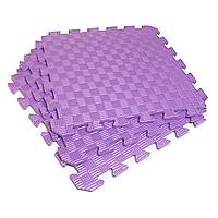 Татами 50х50х1см Фиолетовый (коврик-пазл ласточкин хвост) IZOLON EVA SPORT, фото 1