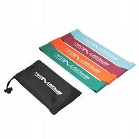 Резинка для фитнеса и спорта, лента-эспандер SportVida Mini Power Band 4 шт 0-20 кг SV-HK0205 SKL41-162800