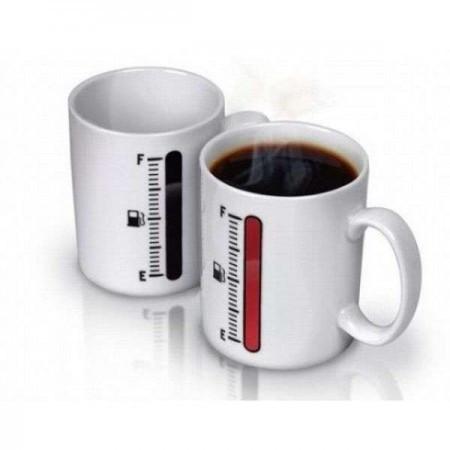 Чашки и кружки подарочные оригинальные прикольные-хамелеон TANK UP с термометром