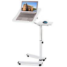Стол для ноутбука из хромированной стали и МДФ Tatkraft LIKE 13643