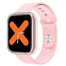 Фитнес-браслет Apl band T85 Big tuch screen, Smart band, смарт часы с большим экраном цвет розовый, фото 2