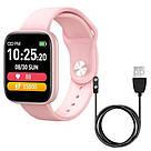 Фитнес-браслет Apl band T85 Big tuch screen, Smart band, смарт часы с большим экраном цвет розовый, фото 4