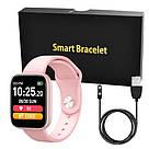Фитнес-браслет Apl band T85 Big tuch screen, Smart band, смарт часы с большим экраном цвет розовый, фото 5