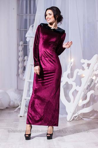 Женское платье бархат