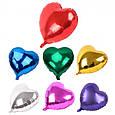 Воздушные шары и шарики для праздника надувные (45см) Сердечко золотое, фото 2