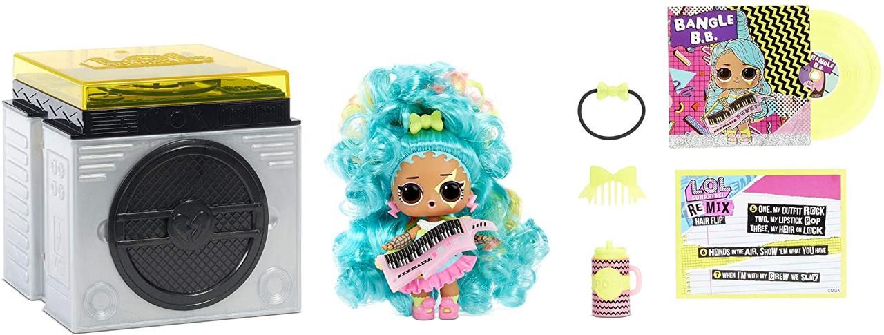 Лол L. O. L. Surprise! Remix Hairflip Музичний набір з лялькою і 15 сюрпризами