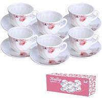 Набор чайный 12 предметов Розовая орхидея Snt 30055-61099