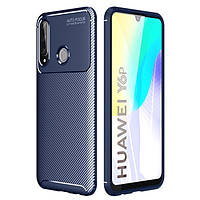Чехол Carbon Case для Huawei Y6p Blue