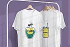 """Парні футболки для закоханих  """"Джин / Тонік"""", фото 2"""