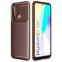 Чехол Carbon Case для Huawei Y6p Brown