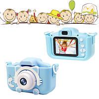 Детский фотоаппарат в чехле Smart Kids Camera Голубой