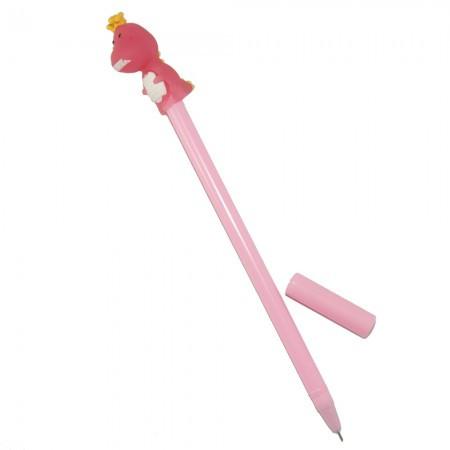 Ручка шариковая Динозаврик (розовый)
