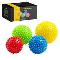 Массажные мячи с шипами 4FIZJO Spike Balls 4 шт 4FJ0115 SKL41-240429