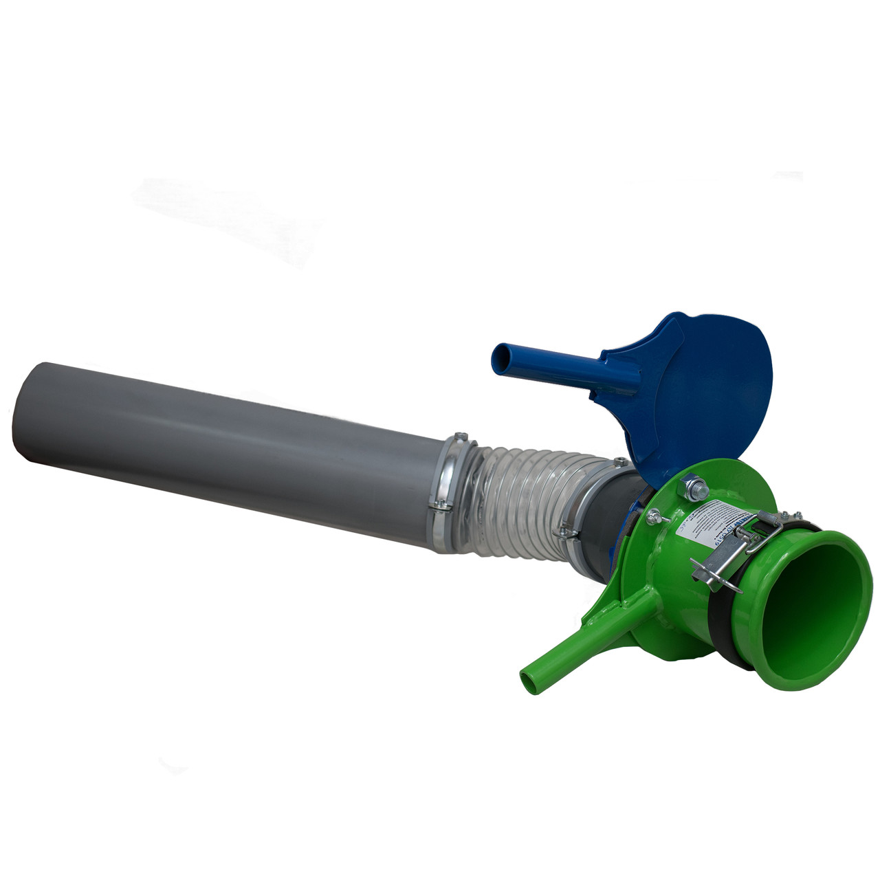Клапан дозатор растариватель биг бегов с нижним клапаном в комплекте с направляющим рукавом