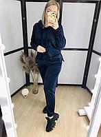 Велюровий костюм з капюшоном Синій, фото 1