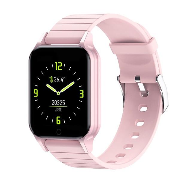 Фитнес-браслет Apl band T96, Smart band, смарт часы цвет розовый