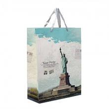 Пакет подарунковий красивий паперові подарунковий пакет новорічні 2021 42х31см ПП 1.4 оригінальні подарунки