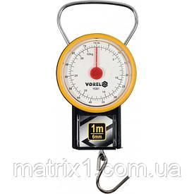 Весы ручные подвесные пружинный (кантор) VOREL до 32 кг с рулеткой 1 м и циферблатом (Польша)