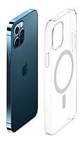 Прозорий силіконовий чохол MagSafe iPhone 12 Pro Max