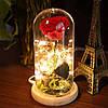 Роза в колбе с LED подсветкой 17х8 см, фото 5
