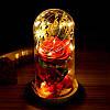 Роза в колбе с LED подсветкой 17х8 см, фото 2