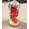 Роза в колбе с LED подсветкой 17х8 см, фото 10