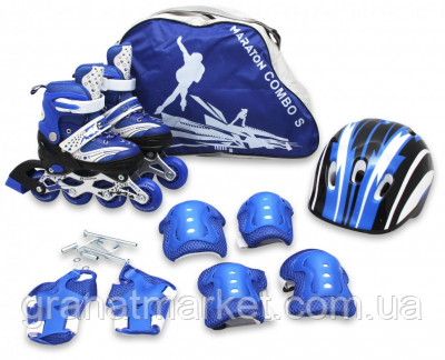Комплект роликов Maraton Combo М (34-37) Синий