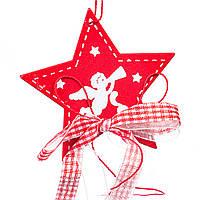 """Новогодние игрушки на елку и украшения елочные Новогодний декор 2021 """"Рождественская звезда"""" (1шт) (0443j)"""