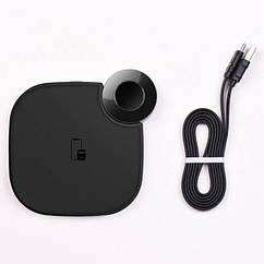 Бездротове зарядний пристрій HOCO S5 Rich Power 2 in 1 Black