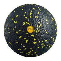 Массажный мяч 4FIZJO Epp Ball 12 4FJ0057 Black-Yellow SKL41-227830